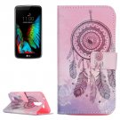 For LG K10 Dreamcatcher 2 Pattern Leather Case with Holder, Card Slots & Wallet