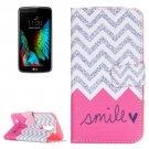 For LG K10 Smile Pattern Leather Case with Holder, Card Slots & Wallet