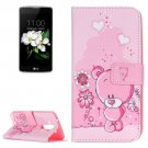 For LG K17 Bear Pattern Leather Case with Holder, Card Slots & Wallet