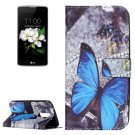 For LG K17 Butterfly Pattern Leather Case with Holder, Card Slots & Wallet