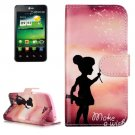 For LG K4 Wishing Girl Pattern Flip Leather Case with Holder & Card Slots