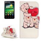 For LG K4 I Love You Pattern Flip Leather Case with Holder & Card Slots
