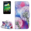 For LG K4 Dandelion Pattern Flip Leather Case with Holder & Card Slots