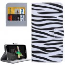 For LG K4 Zebra Pattern Flip Leather Case with Holder & Card Slots