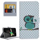 For LG K4 Dot and Owl Pattern Flip Leather Case with Holder & Card Slots
