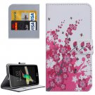 For LG K4 Blossom Pattern Flip Leather Case with Holder & Card Slots