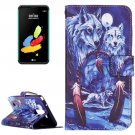 For LG Stylus 2 Wolves Leather Case with Holder, Card Slots & Wallet