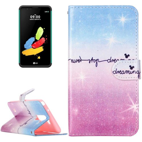 For LG Stylus 2 Dream Sky Leather Case with Holder, Card Slots & Wallet