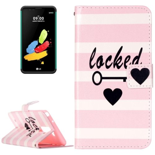 For LG Stylus 2 Locked Leather Case with Holder, Card Slots & Wallet