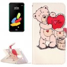 For LG Stylus 2 I Love You Leather Case with Holder, Card Slots & Wallet