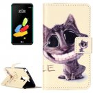 For LG Stylus 2 Smiling Cat Flip Leather Case with Holder, Card Slots & Wallet