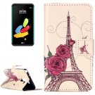 For LG Stylus 2 Rose Tower Flip Leather Case with Holder, Card Slots & Wallet