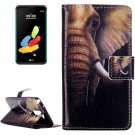 For LG Stylus 2 Elephant Flip Leather Case with Holder, Card Slots & Wallet