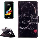 For LG Stylus 2 Red Lip Flip Leather Case with Holder, Card Slots & Wallet