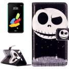 For LG Stylus 2 Ghost Star Flip Leather Case with Holder, Card Slots & Wallet