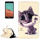 For LG  L Bello II Smiling Flip Leather Case with Holder, Card Slots & Wallet