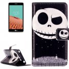 For LG  L Bello II Ghost Star Flip Leather Case with Holder, Card Slots & Wallet