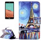 For LG  L Bello II Tower Flip Leather Case with Holder, Card Slots & Wallet