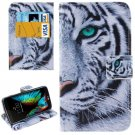 For LG  K10 Tiger Flip Leather Case with Holder, Card Slots & Wallet