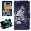For LG  K10 Lion Flip Leather Case with Holder, Card Slots & Wallet