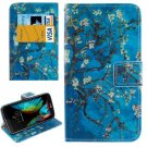 For LG  K10 Flower Flip Leather Case with Holder, Card Slots & Wallet