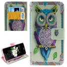 For LG  K7 Owl Flip Leather Case with Holder, Card Slots & Wallet