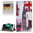 For LG  K10 Big Ben Flip Leather Case with Holder, Card Slots & Wallet
