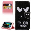 For LG  K10 Eyes Flip Leather Case with Holder, Card Slots & Wallet