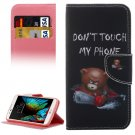 For LG  K10 Little Bear Flip Leather Case with Holder, Card Slots & Wallet
