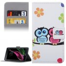 For LG  G5 Owls Pattern Flip Leather Case with Holder, Card Slots & Wallet