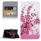 For LG  G5 Blossom Pattern Flip Leather Case with Holder, Card Slots & Wallet
