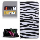 For LG  G5 Zebra Pattern Flip Leather Case with Holder, Card Slots & Wallet