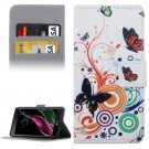 For LG  G5 Butterflies Pattern Flip Leather Case with Holder, Card Slots & Wallet