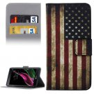 For LG  G5 USA Flag Pattern Flip Leather Case with Holder, Card Slots & Wallet