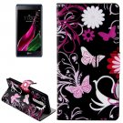 For LG  Class / Zero Butterflies Flip Leather Case with Holder & Card Slots