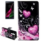 For LG  Class / Zero Hearts Flip Leather Case with Holder & Card Slots