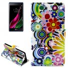 For LG  Class / Zero Flowers Flip Leather Case with Holder & Card Slots