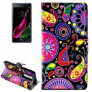 For LG  Class / Zero Abstract Flip Leather Case with Holder & Card Slots