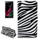 For LG  Class / Zero Zebra Flip Leather Case with Holder & Card Slots