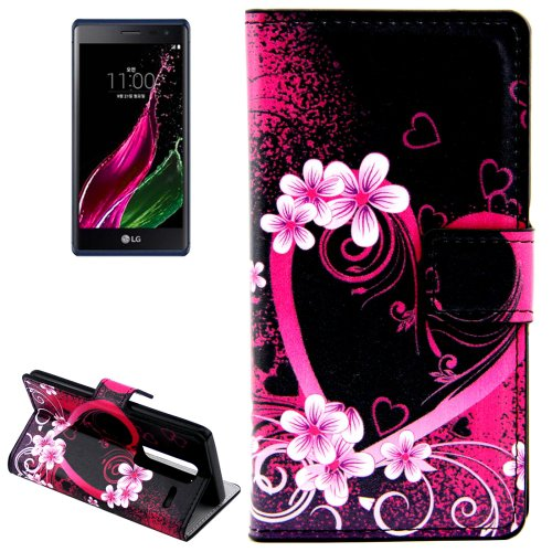 For LG  Class / Zero Heart Flip Leather Case with Holder & Card Slots