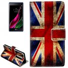 For LG  Class / Zero Union Jack Flip Leather Case with Holder & Card Slots