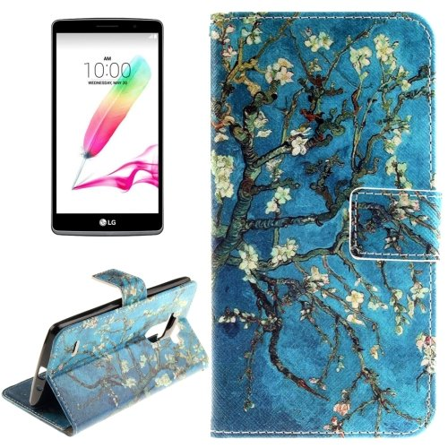 For LG G4 Stylus Blossom 2 Side Leather Case with Holder, Card Slots & Wallet
