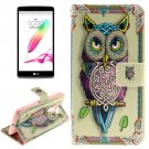 For LG G4 Stylus Owl 2 Side Leather Case with Holder, Card Slots & Wallet