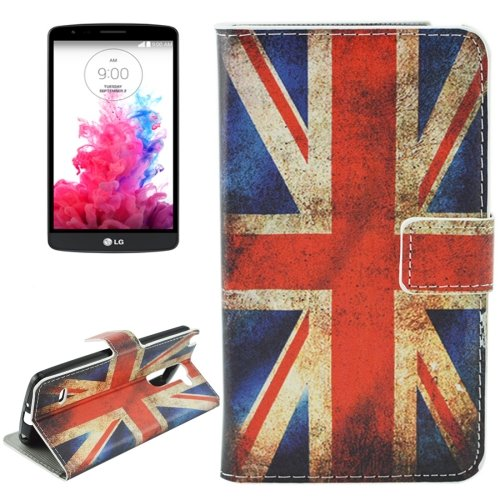 For LG G3 Stylus UK Flag Pattern Leather Case with Holder, Card Slots & Wallet