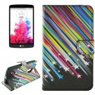 For LG G3 Stylus Meteor Pattern Leather Case with Holder, Card Slots & Wallet