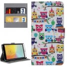 For LG L Bello II Owls Pattern Leather Case with Holder, Card Slots & Wallet
