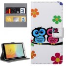 For LG L Bello II Couples Pattern Leather Case with Holder, Card Slots & Wallet