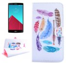 For LG G4 Feather Diamond Leather Case with Holder, Card Slots & Wallet
