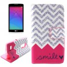 For LG Leon Smile Pattern Leather Case with Holder, Card Slots & Wallet