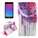 For LG Leon Dreamcatcher Pattern Leather Case with Holder, Card Slots & Wallet